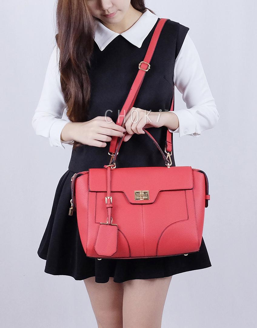 Choki Handbag - 6073 Choki Signature Elegant Handbag with Sling RM109.00