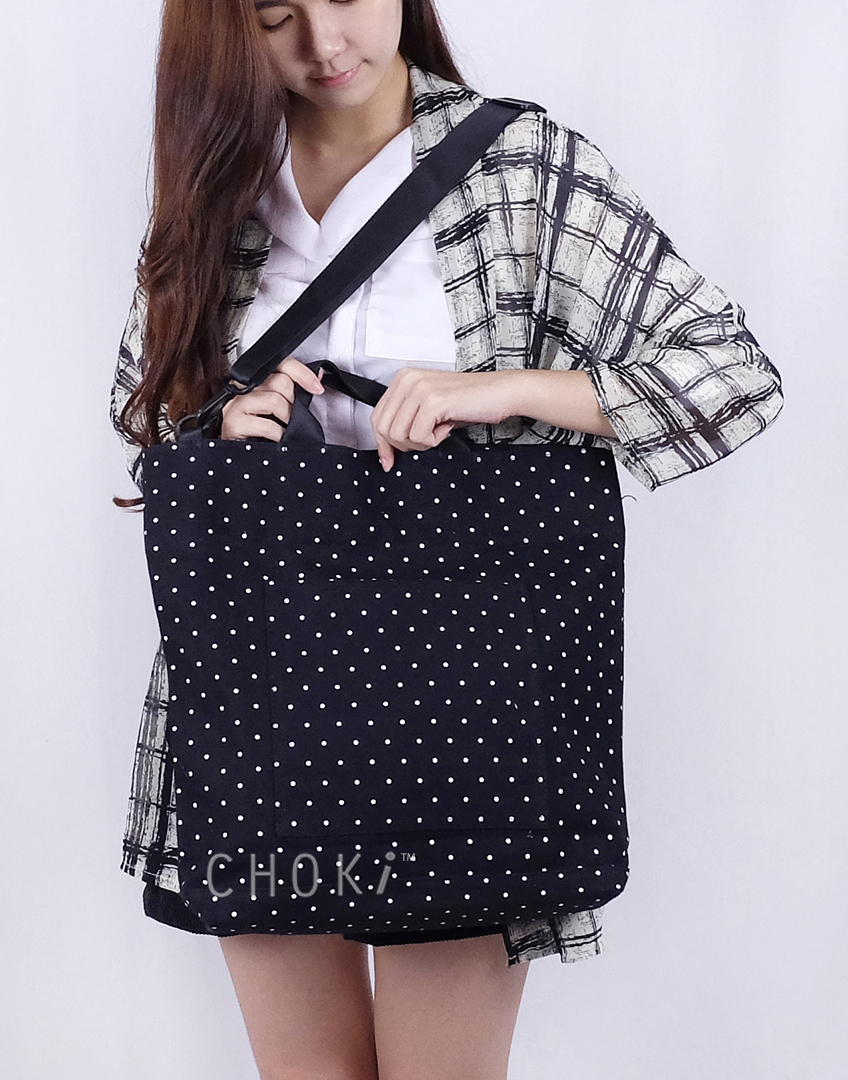 Choki Shoulder Bag - 5147 Korean Polka Dot Tote *Best Seller in Korea* RM59.00