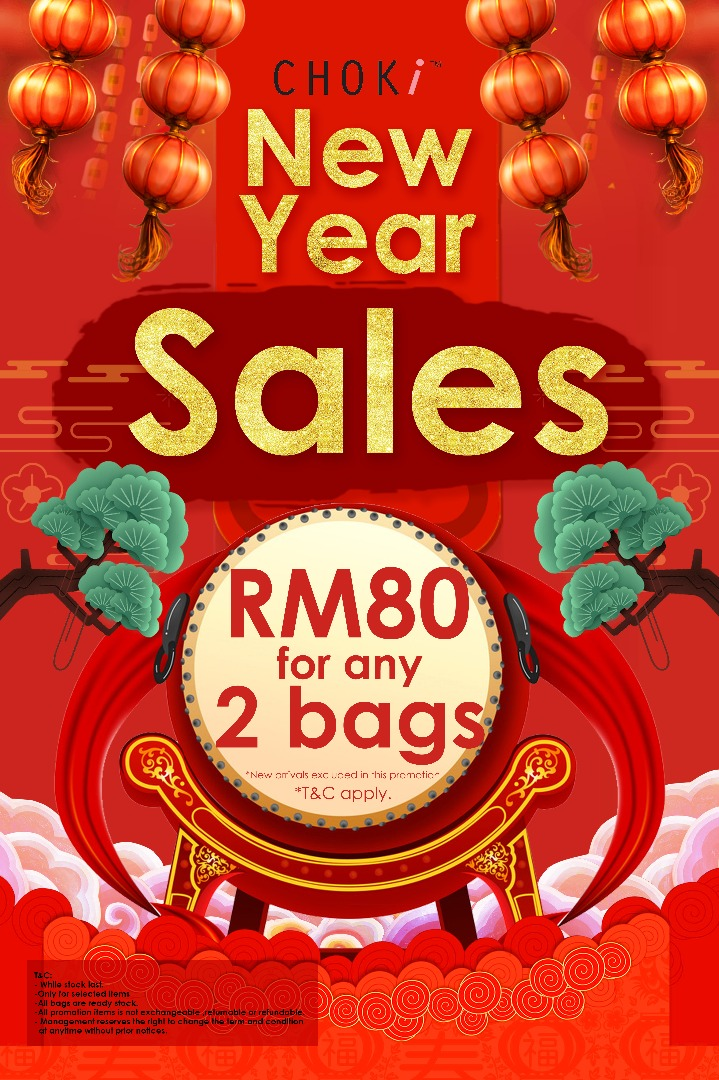 Choki.com.my - NEW YEAR PROMOTION: TWO BAGS ONLY RM80
