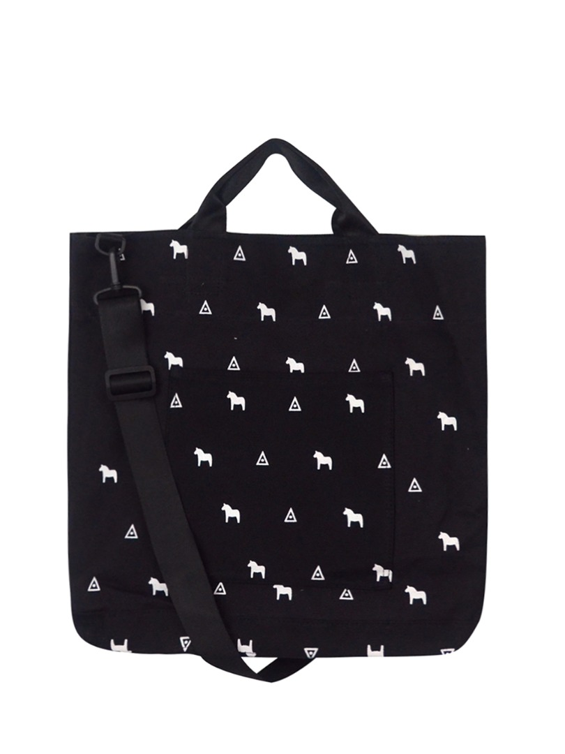 Choki Shoulder Bag - 5146 Korean Horsie Canvas Tote Bag Black RM59.00