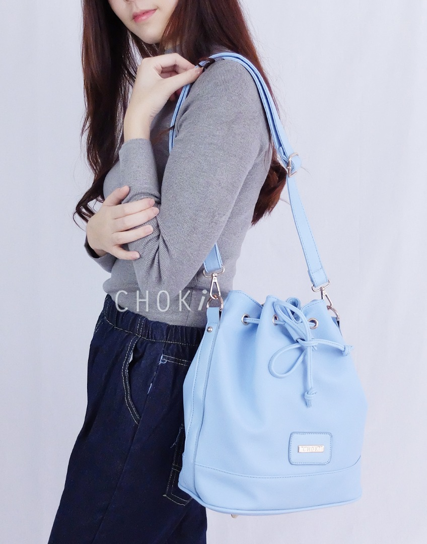 Choki.com.my - 5129 Choki Signature Pastel Drawstring Sling Bag RM39.20