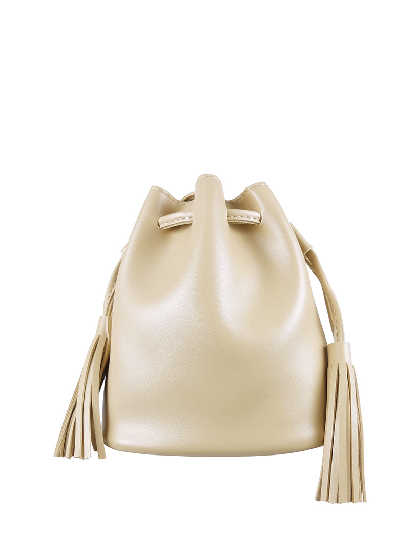 Choki Sling Bag - 6122 Retro Tassel Bucket Sling Bag Khaki RM49.00