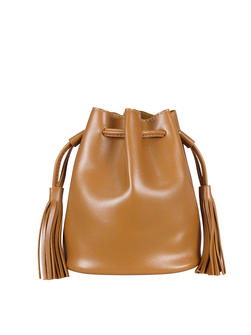 Choki Sling Bag - 6122 Retro Tassel Bucket Sling Bag Brown RM49.00