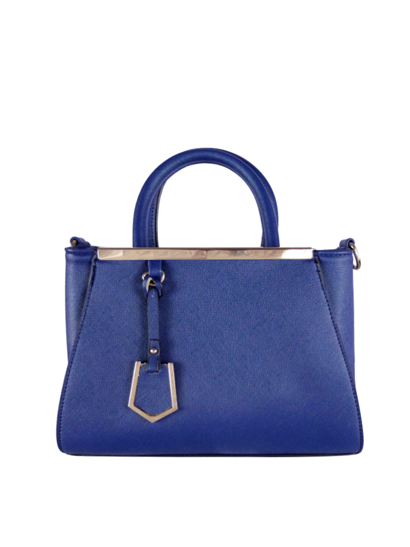 Choki Handbag - 6043 Elegant Classic Handbag with Mini Tag Blue RM65.00