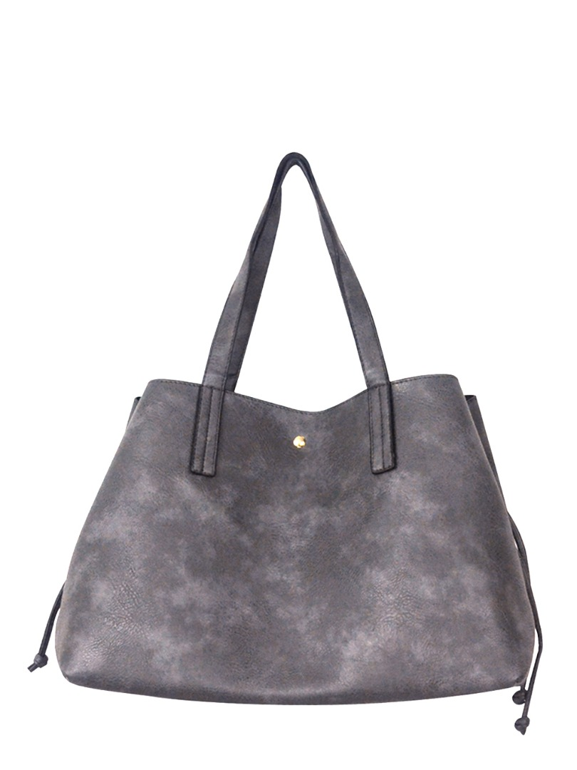 Choki Shoulder Bag - 5178 Korean Handbag with drawstring Grey RM69.00
