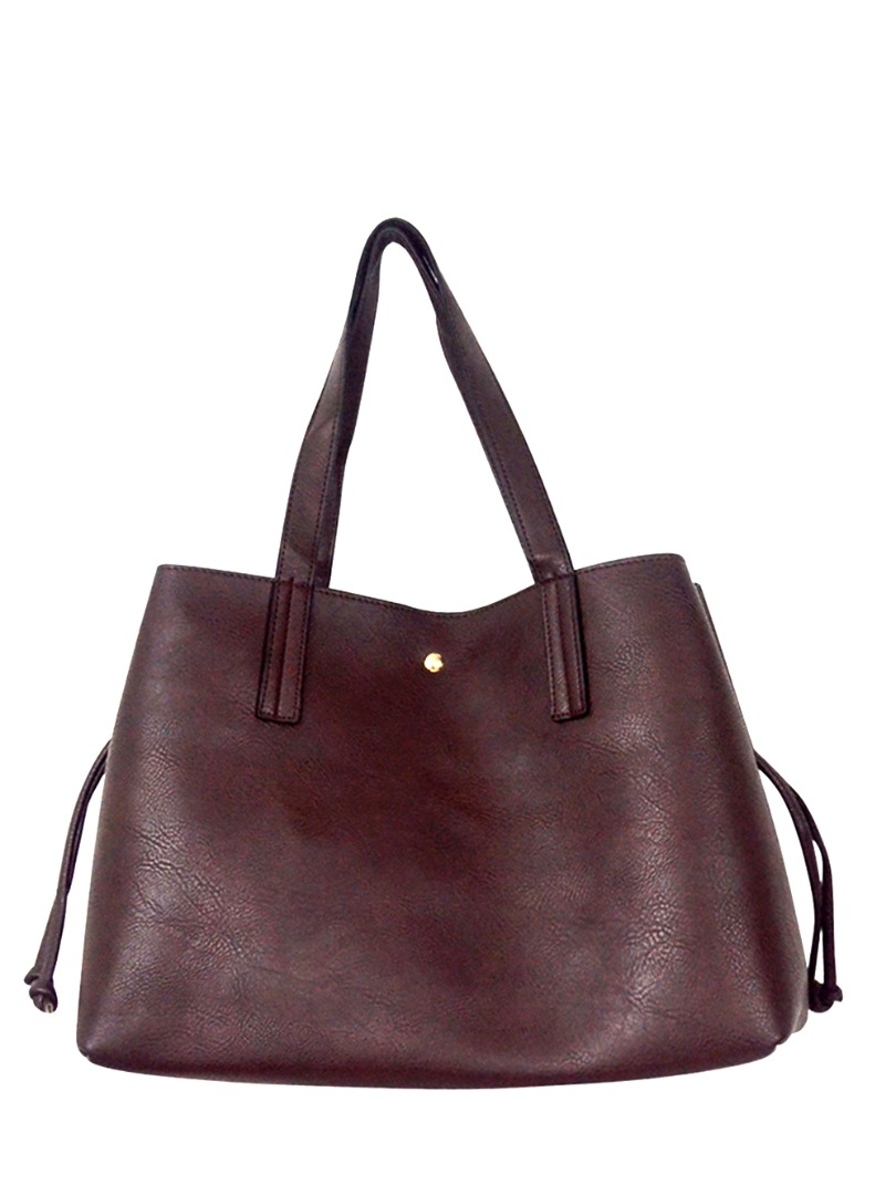 Choki Shoulder Bag - 5178 Korean Handbag with drawstring Brown RM69.00