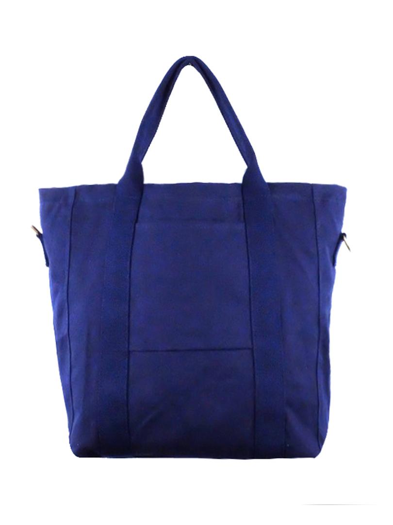 Choki Shoulder Bag - 6053 Choki Korean Canvas Tote Bag Blue RM49.00