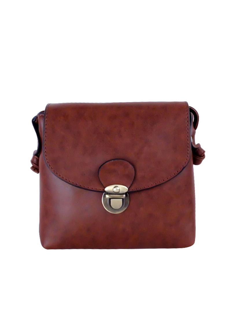 Choki Sling Bag - 6036 Choki Korean Mini Sling Brown RM35.00