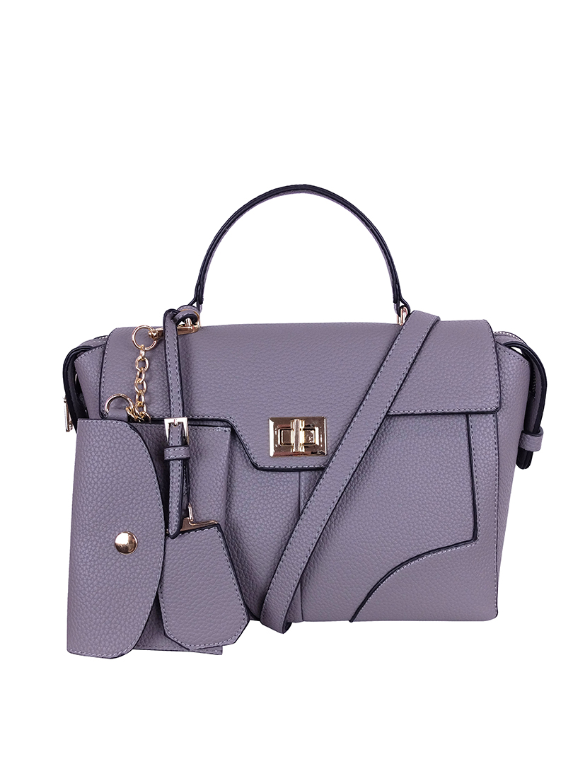 Choki Handbag - 6073 Choki Signature Elegant Handbag with Sling Grey RM109.00
