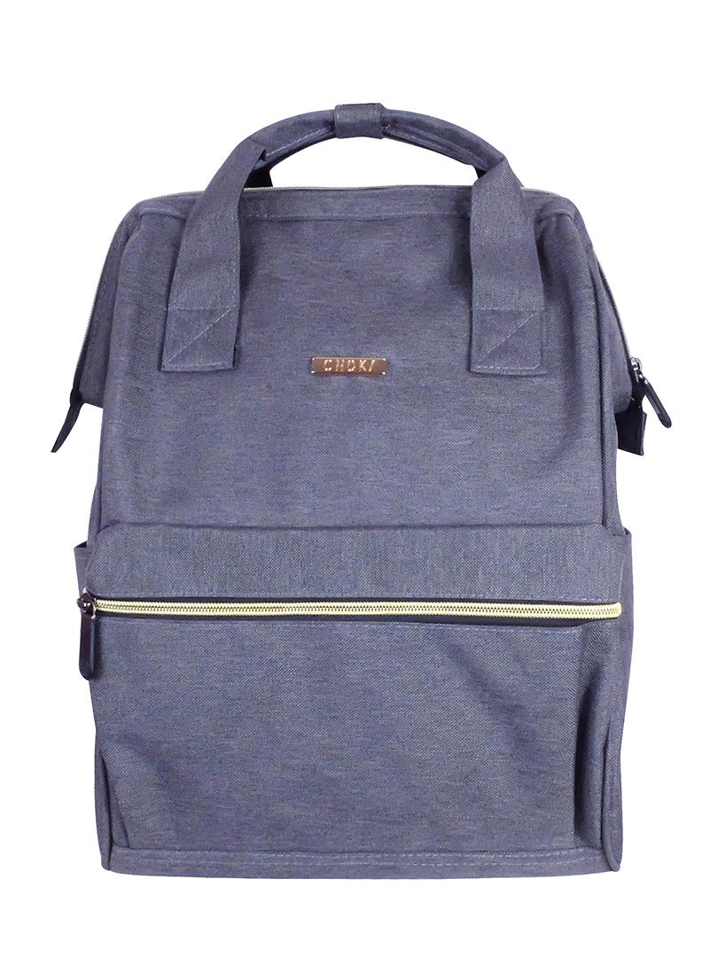 Choki Backpack - 6087 Choki Signature Korean Canvas Backpack Grey RM69.00