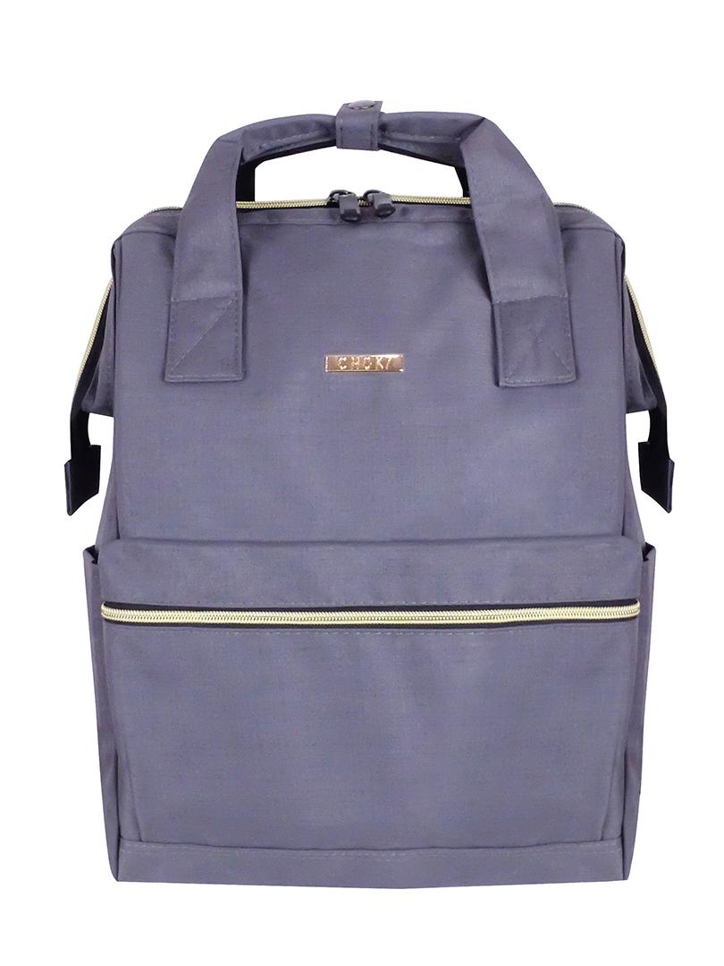 Choki Backpack - 6088 Choki Signature Korean Canvas Backpack Grey RM69.00