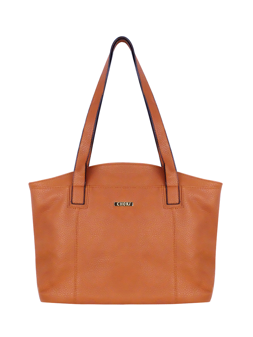 Choki Shoulder Bag - 6079 Classic PU Leather Shoulder Bag Brown RM65.00