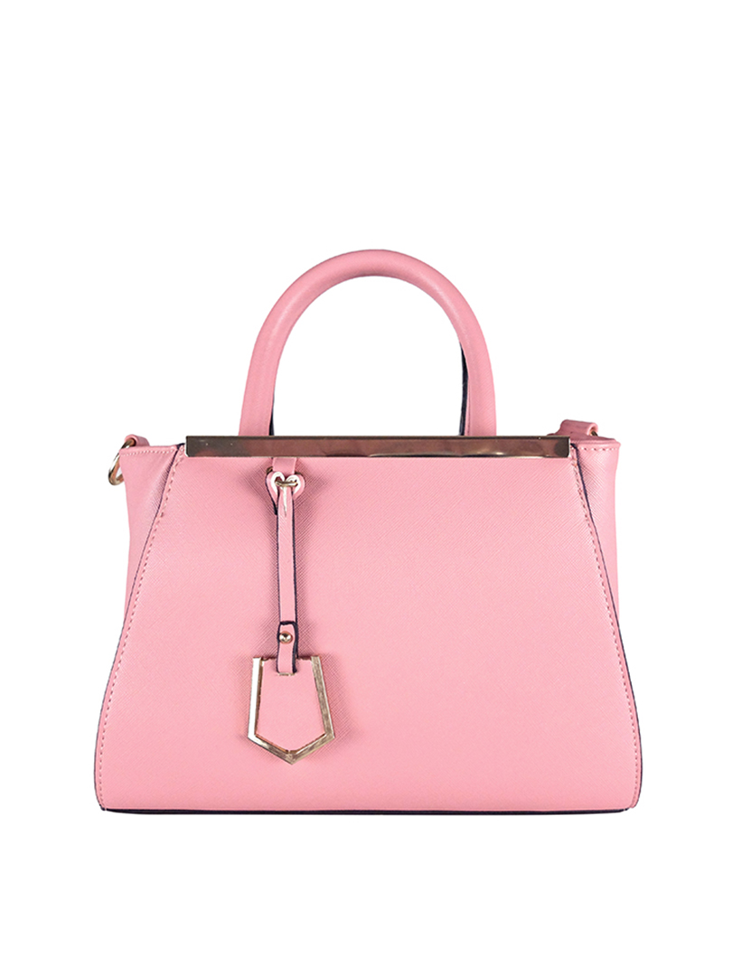 Choki Handbag - 6043 Elegant Classic Handbag with Mini Tag Pink RM65.00