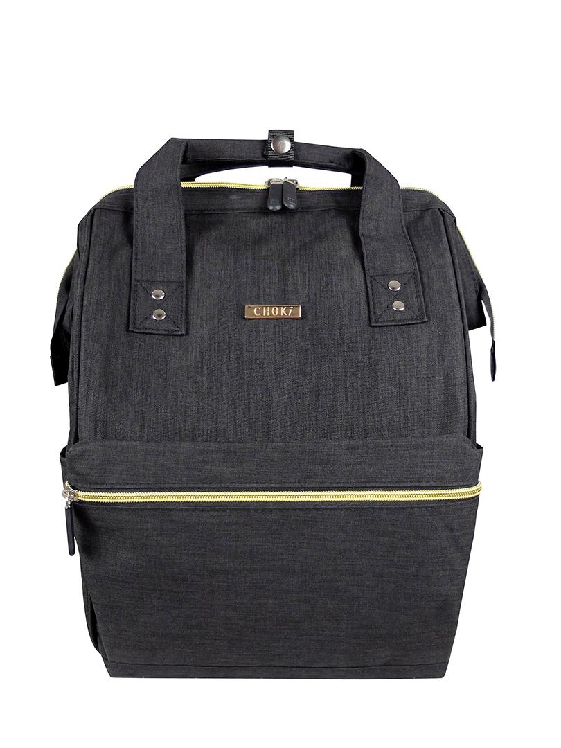 Choki Backpack - 6088 Choki Signature Korean Canvas Backpack Black RM69.00