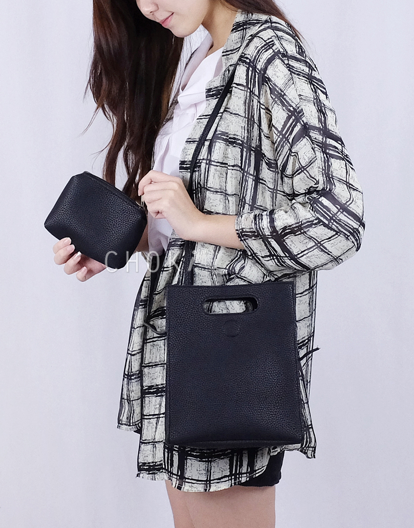 Choki.com.my - 6086 Korean Fashion Handbag with Sling RM31.20