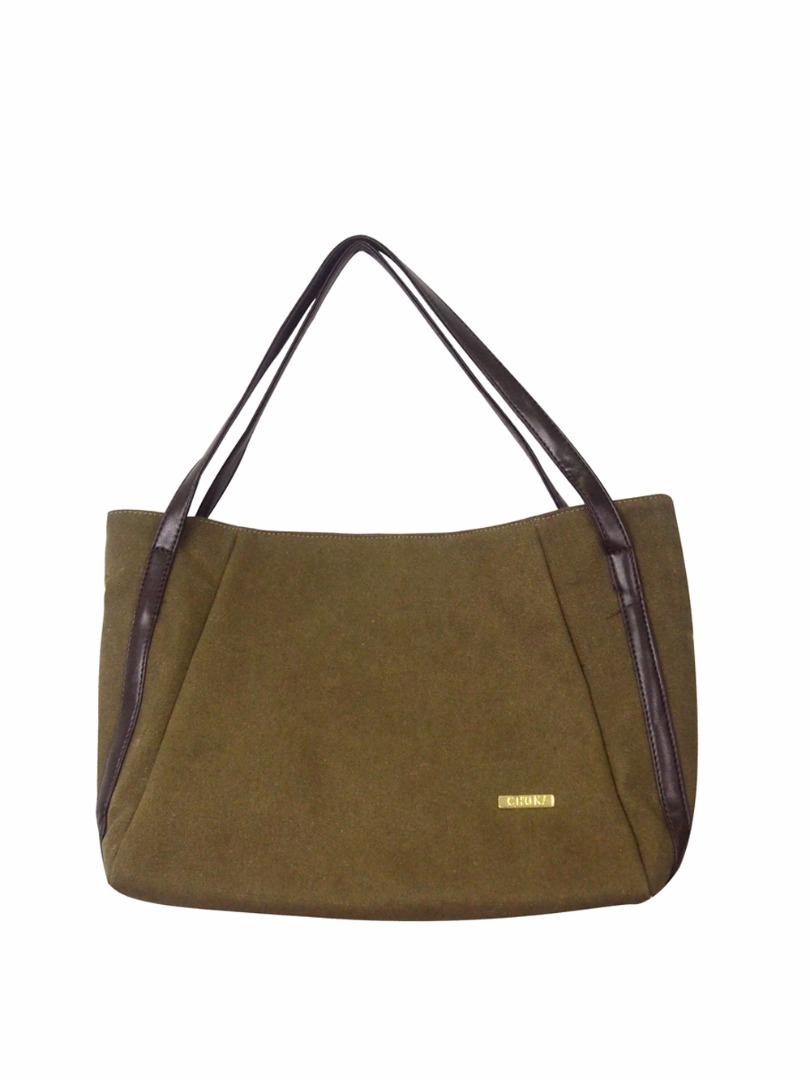 Choki Shoulder Bag - 5113 Choki Signature Canvas Handbag Brown RM49.00