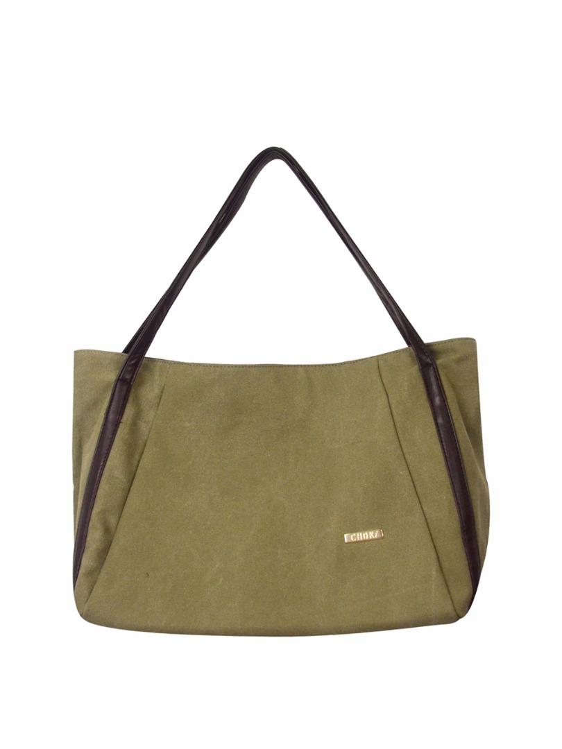 Choki Shoulder Bag - 5113 Choki Signature Canvas Handbag Khaki RM49.00