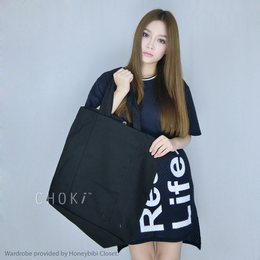 Choki.com.my - 5145 Korean Stylish Unisex Tote/ Couple Tote RM24.50