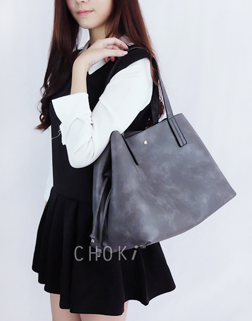 Choki Shoulder Bag - 5178 Korean Handbag with drawstring default RM69.00