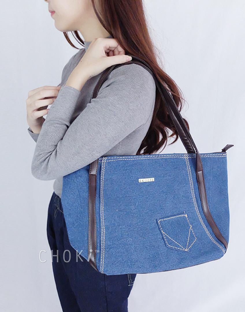 Choki.com.my - 5114 Choki Denim Tote Bag RM49.00