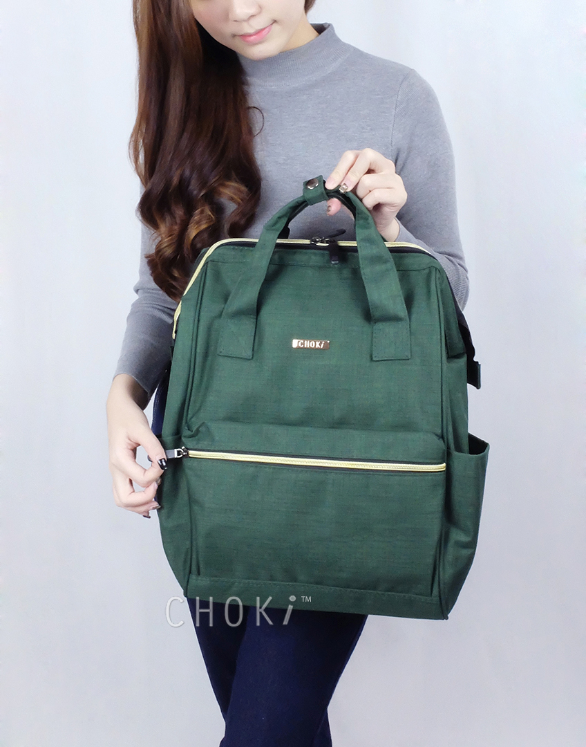 Choki.com.my - 6088 Choki Signature Korean Canvas Backpack RM55.00