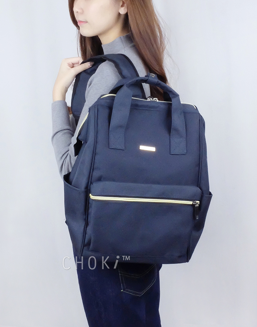 Choki.com.my - 6087 Choki Signature Korean Canvas Backpack RM59.00