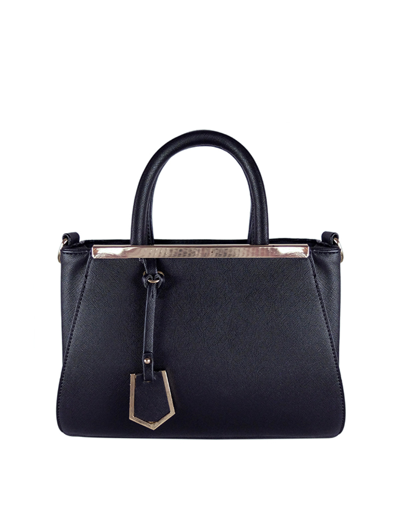 Choki Handbag - 6043 Elegant Classic Handbag with Mini Tag Black RM65.00